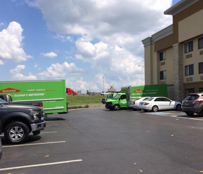 SERVPRO Dispatches Our Green Trucks for Emergency Service