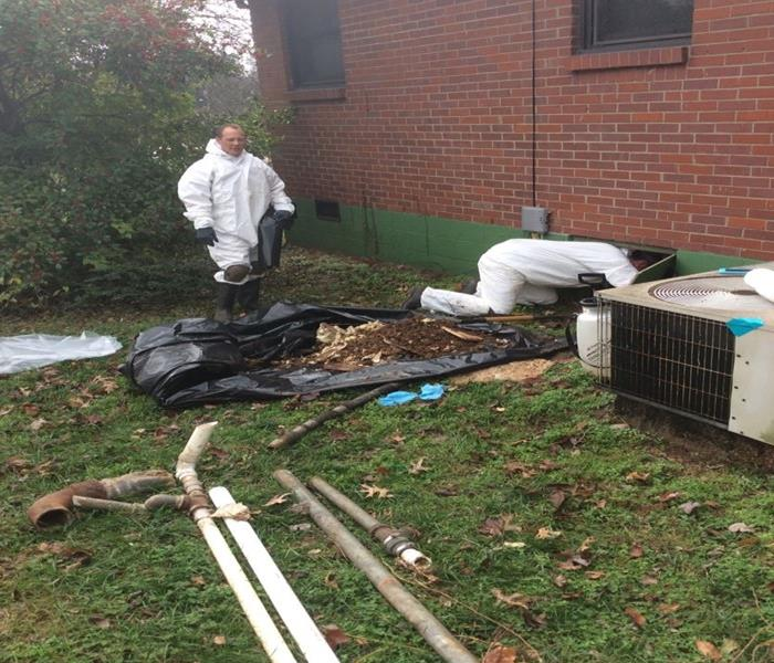 Sewage Pipe Rupture Clean Up